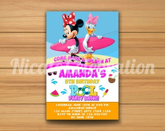 Minnie Mouse Pool Party - Digital File