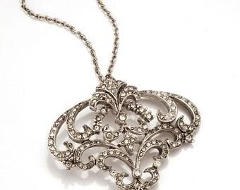 Silver Art Nouveau Pendant