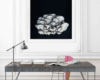 Large Minimalist Art, Kitchen Art, Minimalist Food Art, Black and White, Large Art,  Square Art