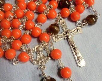 Rosary, Catholic Rosary, Roman Catholic, Prayer beads, 5 decade rosary,
