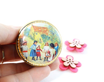 Children picture candy tin - Candy Tin - Candy Box - Vintage Mints tin - Collectible tins - Little girl picture - Vintage tin box - Tin box