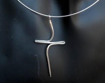 Cross Necklace ,  Sterling Silver Cross Necklace ,Silver minimalist Cross, Cross necklace women, Cross pendant, Modern cross neclace