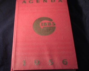 Agenda GIBBS of 1956 with razors Buvars Catalogue advertisements and Badgers of shaving PLV advertising object