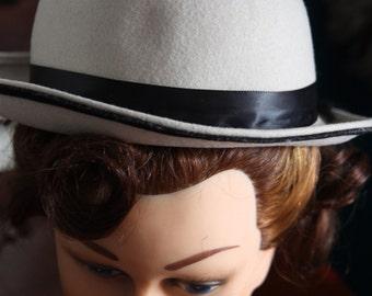 Bowler felt brand vintage pinup Georgette 1940-1950-1960