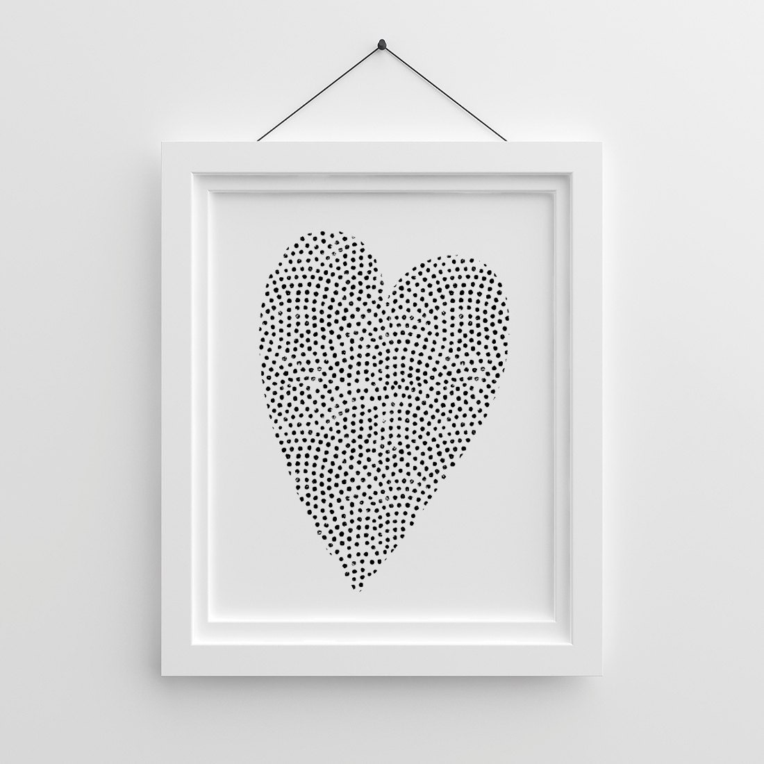 Black And White Nursery Wall Decor : Children wall decor black and white nursery print modern
