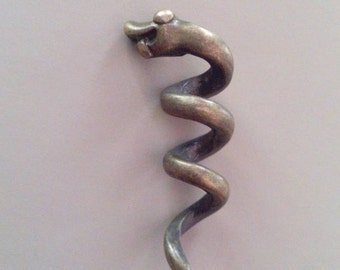Bronze snake dreadlock bead. Dread bead. Beard bead. Loc bead.