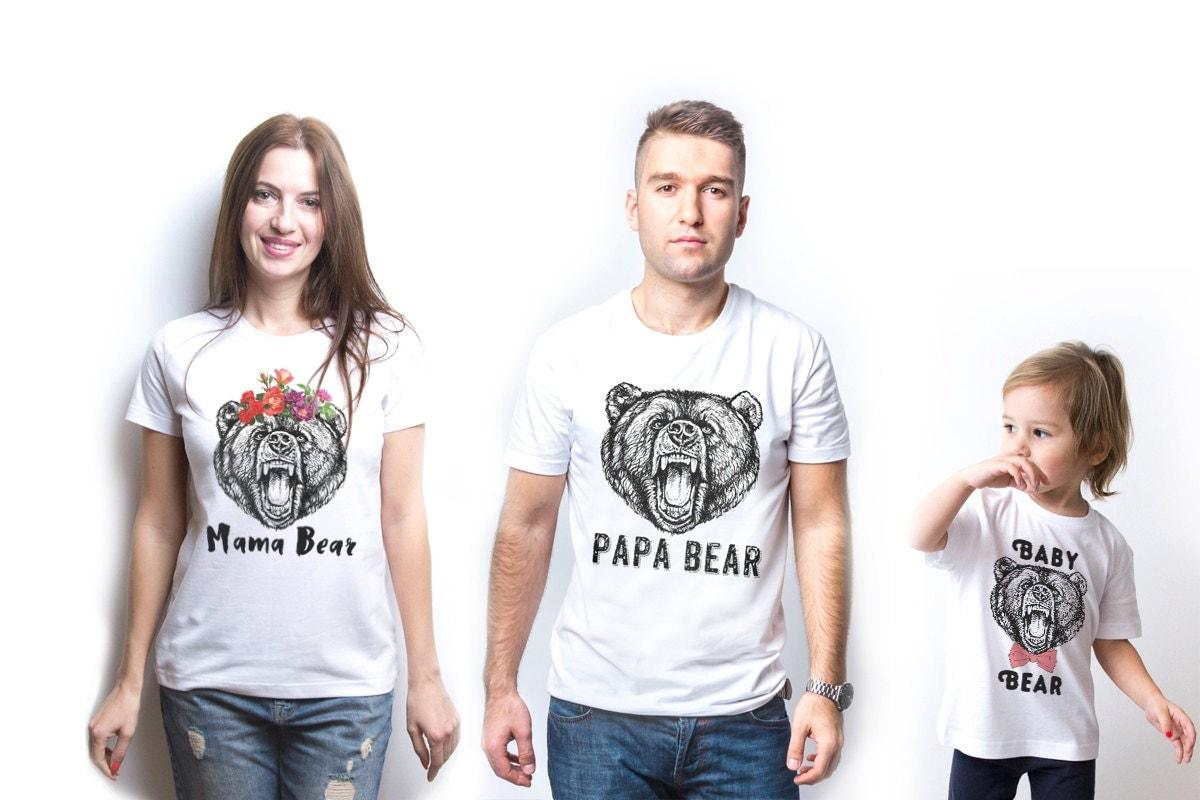 Mama Bear Papa Bear Baby Bear Mama Bear Shirt Papa Bear Shirt