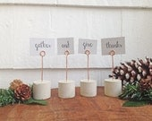 Copper Wire & Concrete Place Card Holder | Handmade | Holiday Decoration | Thanksgiving Decor | Table Setting | Christmas Decor | Cement