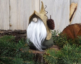NORDIC Gnome, LORE the Quirky, Scandinavian Gnomes, Woodland Gnomes, Nordic Forest Gnome, Wool Felt Gnome, Birthday ~ The Gnomes Makers