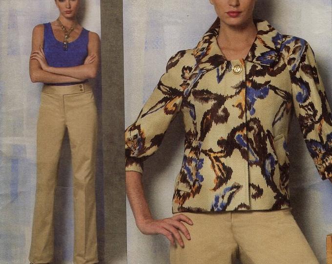 FREE US SHIP Vogue 1167 Sewing Pattern Designer Anne Klein Top Pants Jacket Size 8/14 Bust 31 32 34 36  (Last size left)  2010 New