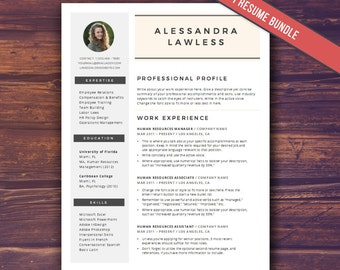 SALE! Modern Resume Template with Photo, Word Template, CV Template, Modern Creative Resume Template Design, Blogger, Instant Download