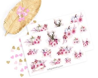 Deer sticker, life planner sticker for kikki k, filofax or erin condren