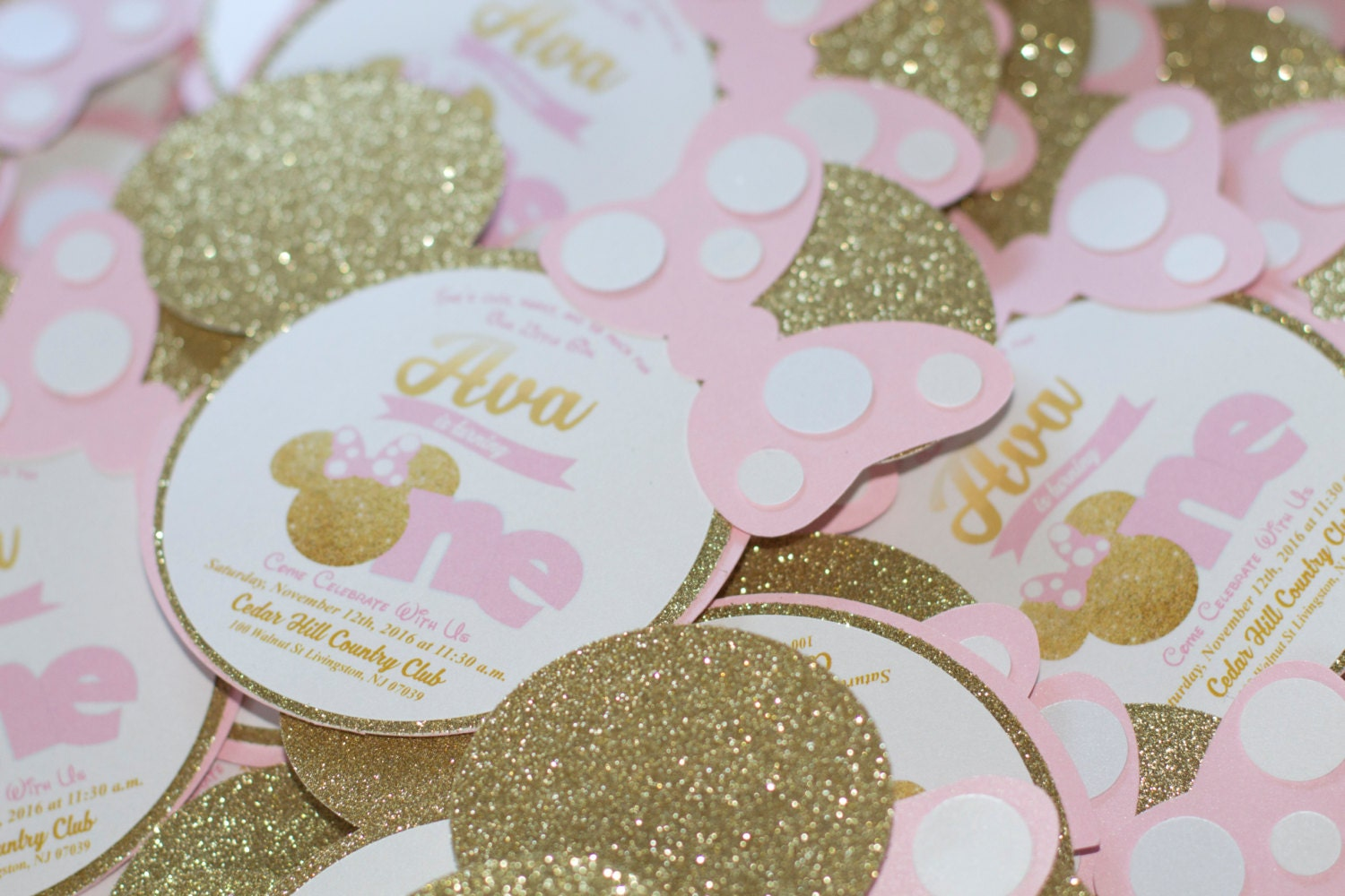 Minnie Mouse Invitations Etsy with luxury invitation layout