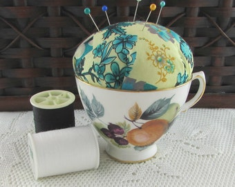 Fruit Tea Cup Pin Cushion