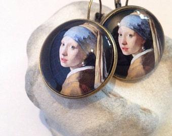 """Earrings - """"Girl with a Pearl Earring"""" (Johannes Vermeer)"""