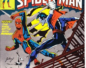 Spiderman  comic book. Peter Parker the Spectacular spider-man 8. The Amazing Morbius marvel comics, 1977, VF (8.0)
