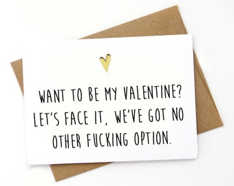 Handmade Funny  Valentines Day Card, Love card