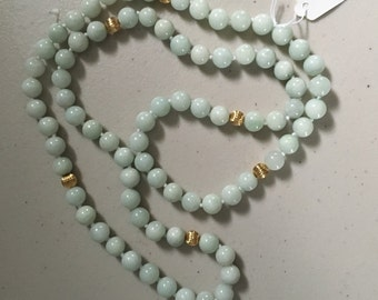 Jadeite Jade and Sterling Silver Necklace