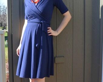 wrap dress sewing pattern/Kimono wrap dress PDF e book downloadable/womens Wrap dress sewing pattern pdf/wrap dress pattern for sewing