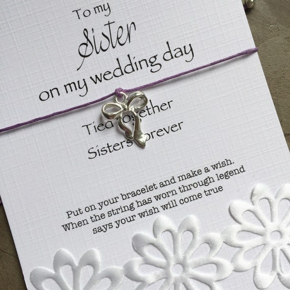 Sister of the bride gift