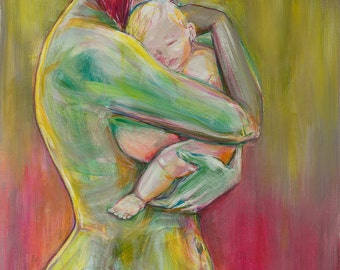 Aegis   Breastfeeding artwork print