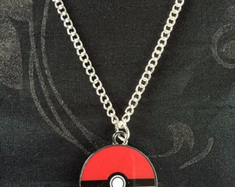Silver Plated Nintendo Pokemon Pokeball Necklace