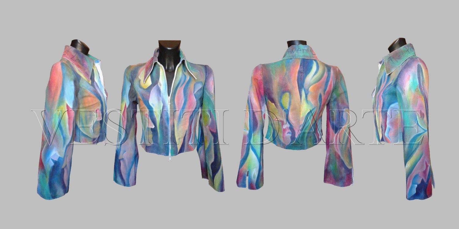 Hand Painted Jacket For Womens Jackets Painted Jacket For