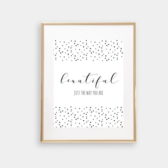 Black And White Nursery Wall Decor : Black and white print nursery wall art polka dot teen