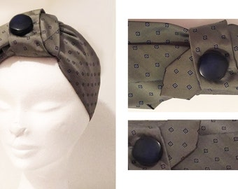 Headband made with silk tie