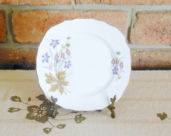 Colclough side, butter, bread plate, floral spray motif, 16cm mid century, vintage high tea