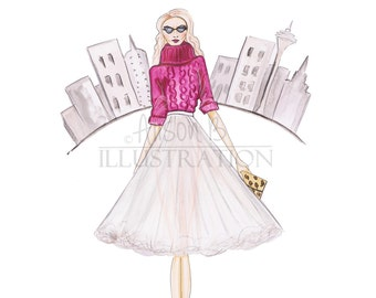 Spring Fashion Girl Art Print