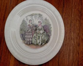 Godey Prints Salem China Plate