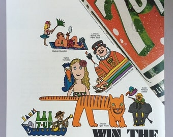 1967 7 Up Print Ad - Wet & Wild Sweepstakes