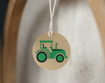 Tractor Printable, Tractor Birthday, Farm Birthday, Tractor Birthday, Farm Birthday, Tractor Favor Tags, First Birthday, INSTANT DOWNLOAD