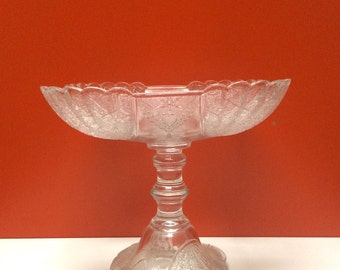 EAPG Shell and Tassel Large Compote, Pedestal Dish