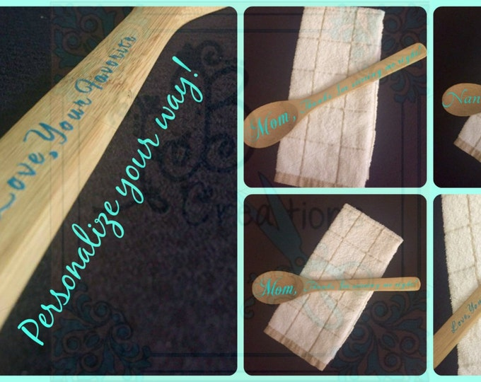 Personalized Wooden Spoon for Mother's Day, Events, & Birthdays! Customized just for you!