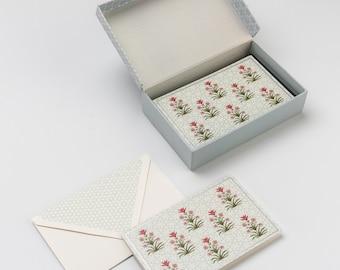 Mughal Lotus Miniature Stationery Set