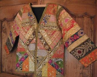 Ethnic embroidered jacket.
