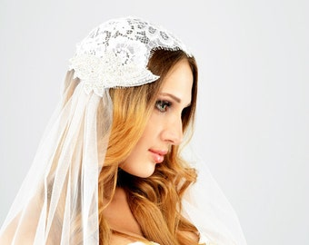 Juliet cap veil, Lace Cap Wedding Veil,  Juliet Cap Veil,  Bridal Cap,  Juliet Veil,  Wedding Veil,  Bridal Veil ,  Gatsby Bride