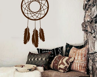 Wall Vinyl Decal Bedroom Decor Dream Catcher Quote Dreamer Snare Modern Ethnic Home Art Decor (#1084dz)