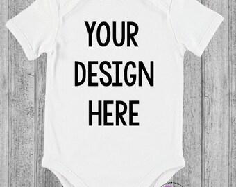 Personalised white bodysuit/romper/onesie - your design