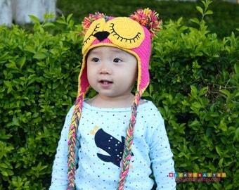 Crochet Owl Hat, Baby Owl Hat, Crochet Owl Beanie, Photo prop