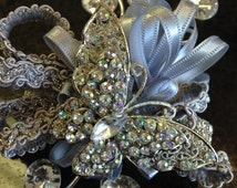 Vintage Inspired butterfly Brooch Wrist Corsage