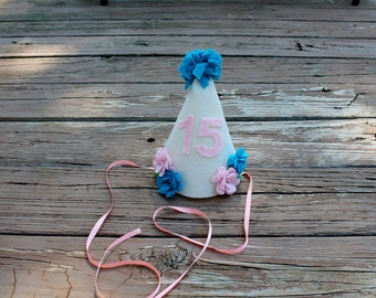 Girl's Flower Birthday Hat