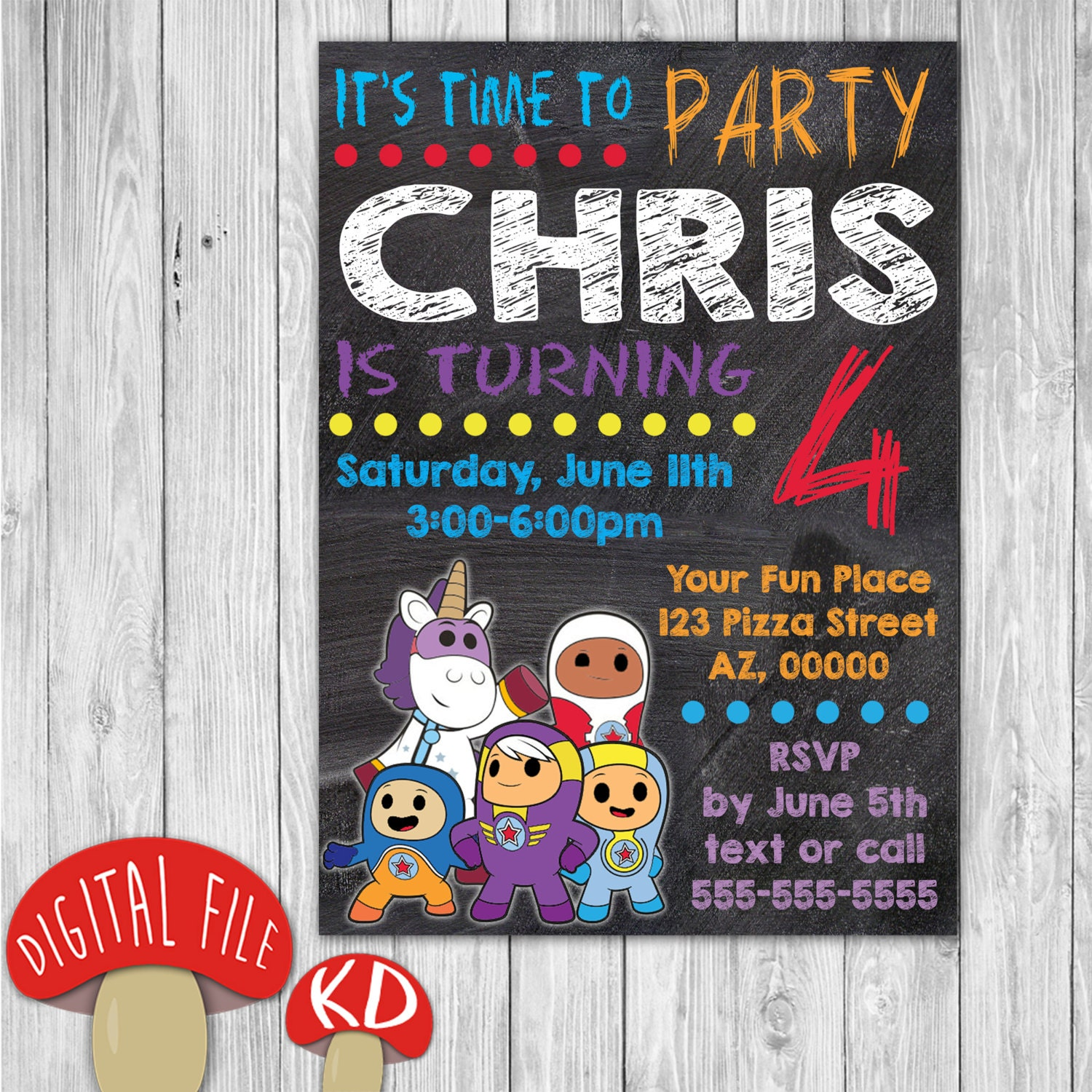 Printable Go Jetters Invitation Birthday Party By