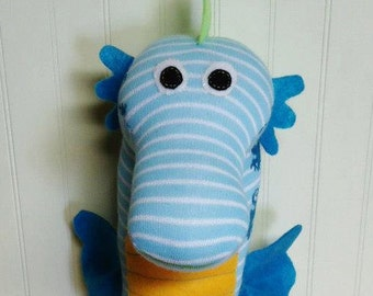 Custom Handmade Sock Seahorse