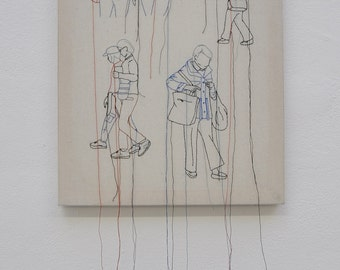 In Transit - Hand embroidered art
