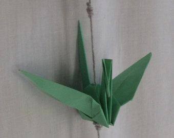 Mint Origami Hanging Cranes