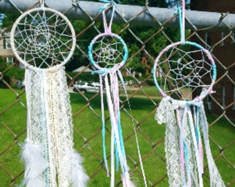 White Lacey Dream Catcher