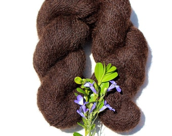 Dark Brown Alpaca Skein//A chocolate bar for your kitting needles